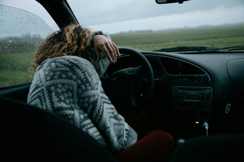 заснул за рулм