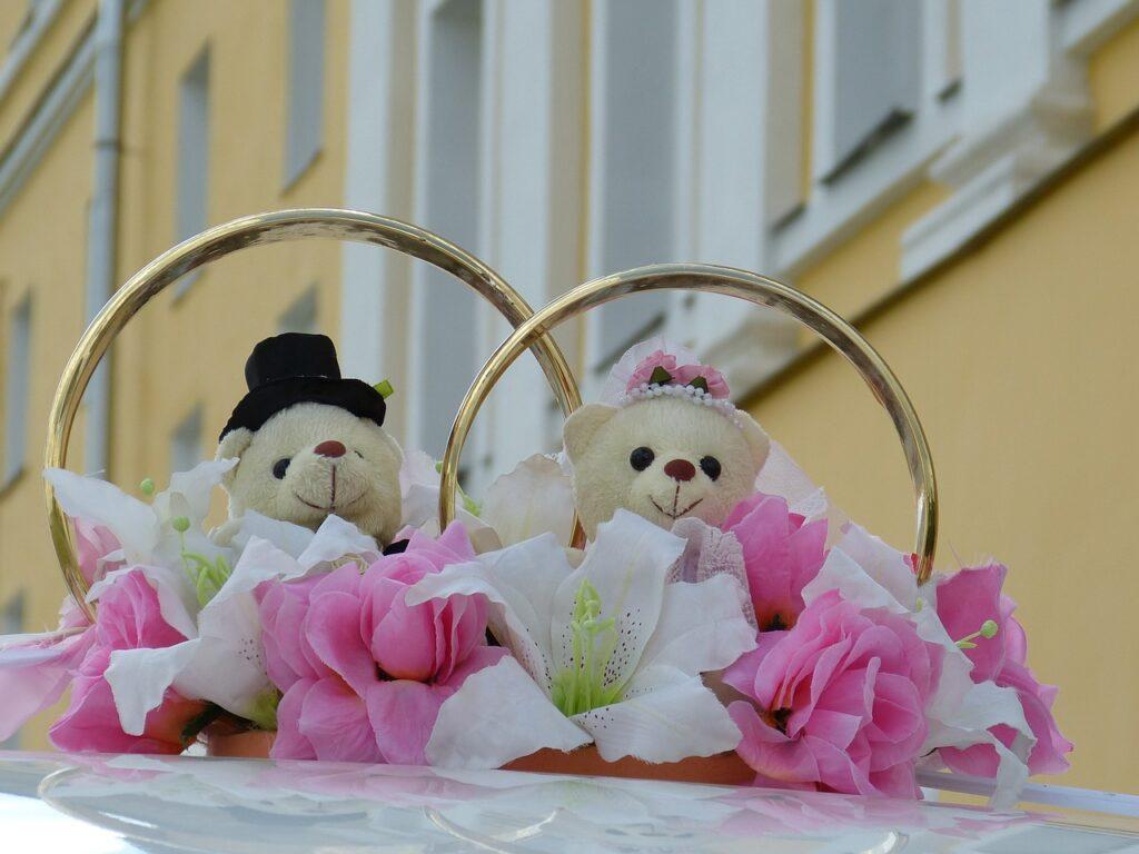 Свадебные кольца украшение