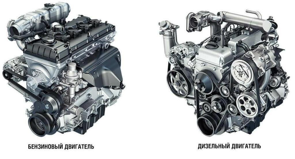 дизельный и бензинвый двигатели