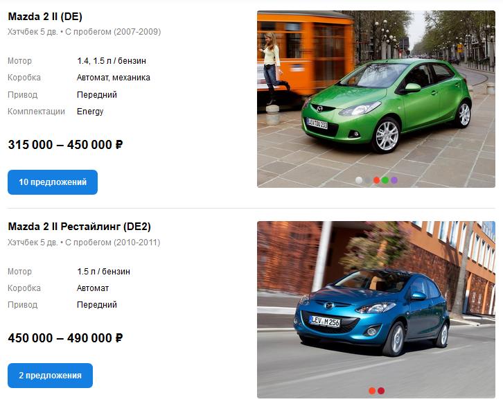 Mazda 2 цены auto.ru